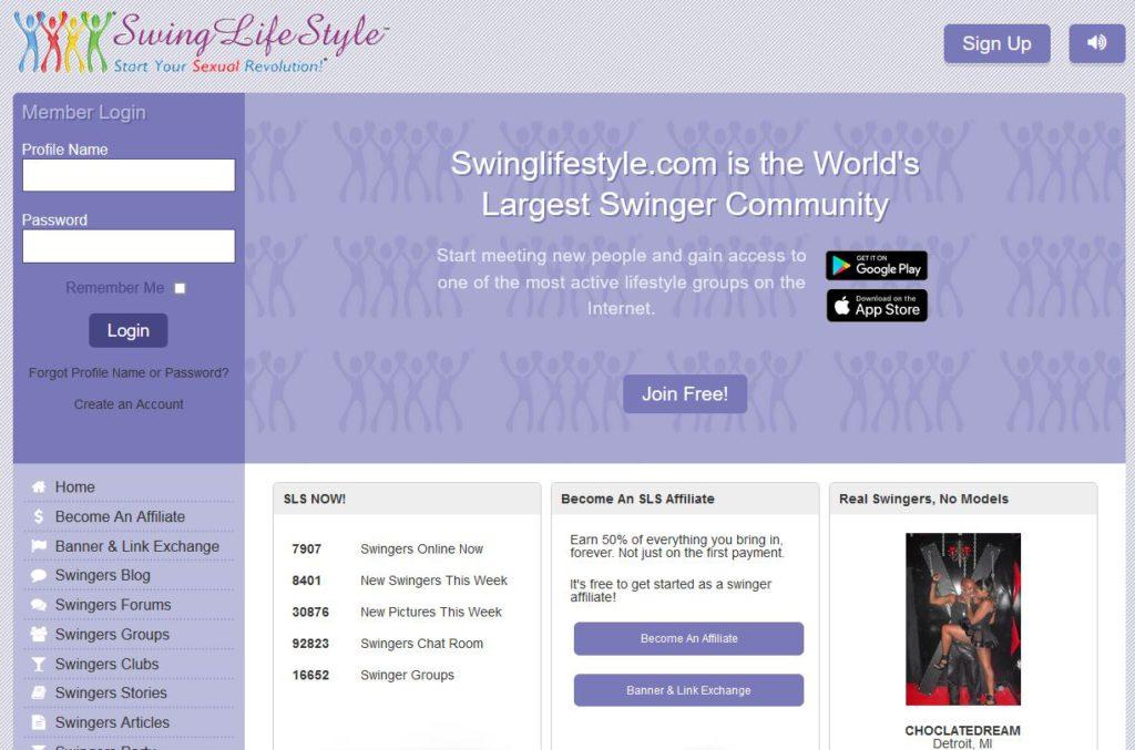 swinglifestyle main page